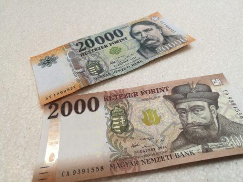 Verwechslungsgefahr! 2.000 Forint und 20.000 Forint! Foto: Flying Media Hungary